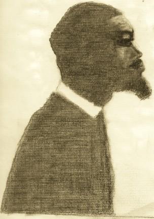 jazz man © 2003   charcoal drawing